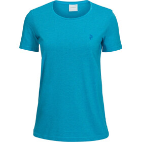 Peak Performance Track Kurzarm T-Shirt Damen active blue melange